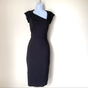 French Connection Fitted Midi Dress